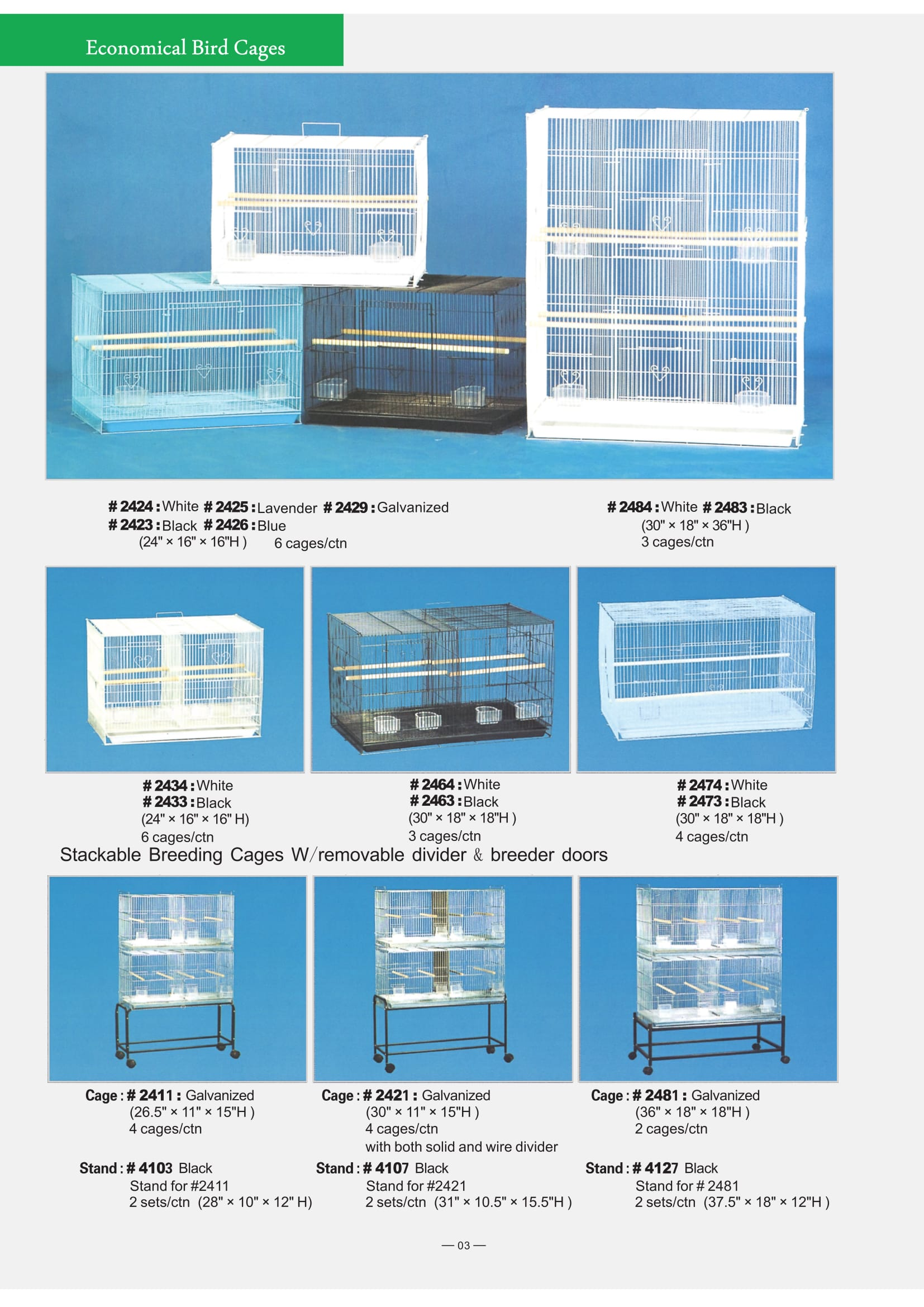 2. Economical Bird Cages Part 1-3